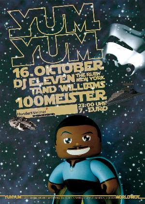 YUM YUM this Saturday, Oct. 16th @ 100Meister