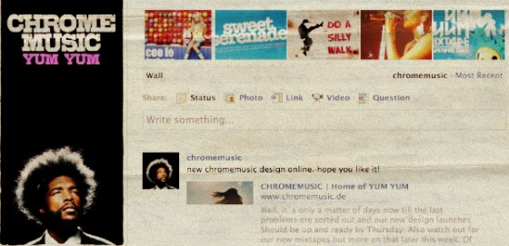 chromemusic facebook page